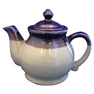 Brown Glaze Two Tone Stoneware Pottery Teapot