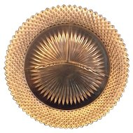 Miss America Crystal Grill Plate Hocking Depression Glass