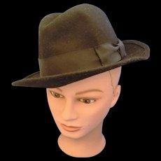 Black Wool Fedora Mens Hat De Luce Quality Giant International Size S