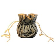 Satin Drawstring Pouch Jewelry Travel Case Bag Anti-Tarnish Lining The Jewelry Saq