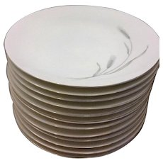 Johann Haviland Silver Wheat Dinner Plates Set of 12