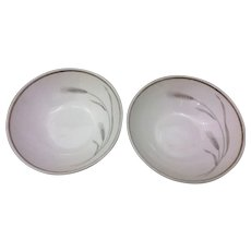 Johann Haviland Silver Wheat Berry Bowl Pair