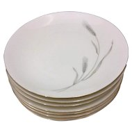 Johann Haviland Silver Wheat Bread Plates