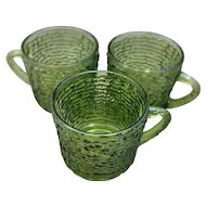 Soreno Avocado Green Cups Set of 3