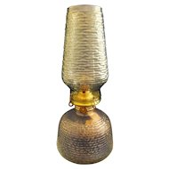 Soreno Anchor Hocking Oil Kerosene Patio Lamp Clear Avocado Green