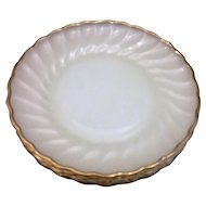 Golden Shell Milk Glass Anchor Hocking Fire King Salad Plates Set of 4