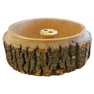 Ellwood Rusticware Tree Slice Nut Bowl Only