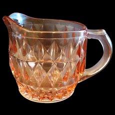 Jeannette Windsor Pink Creamer Depression Glass