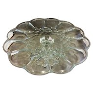 Clear Scalloped Quilted Diamond Cake Stand