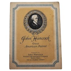 John Hancock Great American Patriot Biography Booklet John Hancock Mutual Life Insurance