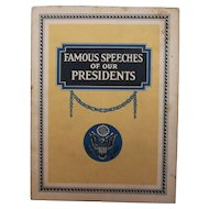 Famous Speeches of Our Presidents Booklet John Hancock Insurance Co