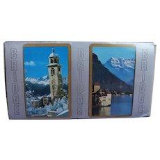 Switzerland Lake Geneva Chillon Castle St Moritz Church Tower Double Bridge Deck Cards AG Muller
