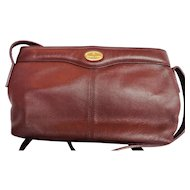 Etienne Aigner Leather Burgundy Shoulder Bag Purse