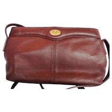 Etienne Aigner Leather Burgundy Shoulder Bag Purse