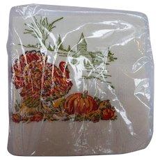 Thanksgiving Turkey Paper Napkins Set of 24 Mint Original Package S S Kresge