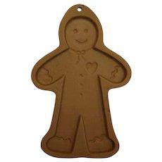 Gingerbread Man Brown Bag Cookie Art Mold 1992