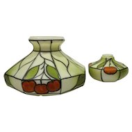 Fruit Hand Painted Faux Stained Glass Swag Lamp Shades Set