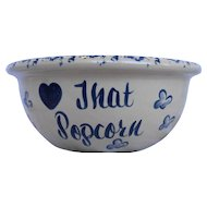 Paul Storie Pottery Popcorn Bowl Large Serving Hand Turned