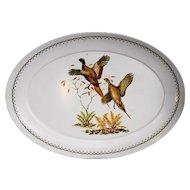 Game Birds Pheasants  Melmac Oval Platter 15 x 21