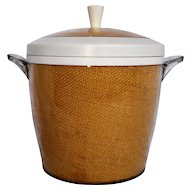 Goldenrod Yellow Raffia White Melmac Ice Bucket Thermo Temp MCM