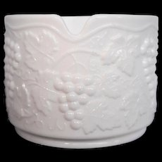 Imperial Glass White Milk Glass Vintage Grape Ashtray Large