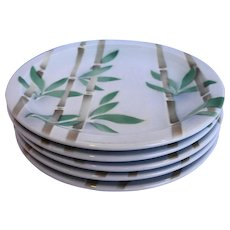 Syracuse Bamboo Dinner Plates Restaurant Ware Set of 5