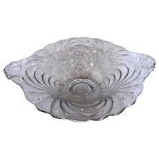 Cambridge Caprice Clear Short Compote Bowl Tab Handles
