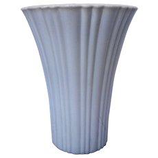 Old Cafe Vitrock Ivory Glass Anchor Hocking Vase