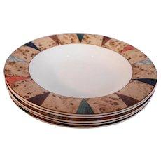 Christopher Stuart Villa d'Este Rimmed Soup Bowls Set of 5