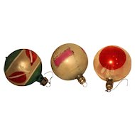 Poland Hand Painted Christmas Ornaments Set of 3 1 3/4 IN