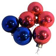 Shiny Brite Rauch Mixed Small Ball Christmas Ornaments Pink Blue