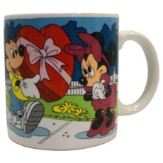 Mickey Mouse Minnie Pluto All My Love Is For You Valentine's Day Mug Applause Korea