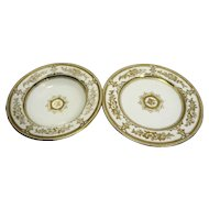 Wedgwood Havelock Gold Floral Rimmed Soup Luncheon Plate