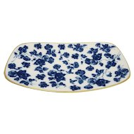 Gerold Porzellan West Germany Blue Morning Glory Floral Chintz Tray