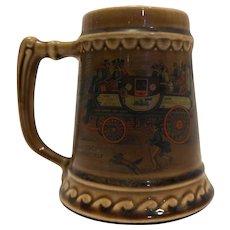 McCoy Steam Coach by Guerney Beer Stein Mug Brown Glazed