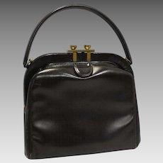 Margolin Deep Brown Leather Purse Small Handbag