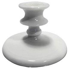White Milk Glass Candle Stick Taper Single Light