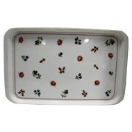 Villeroy & Boch Petite Fleur Italy Melmac Plastic 18 IN Tray White Floral