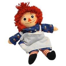 Raggedy Ann 12 IN Cloth Doll Playskool 1987 Hasbro
