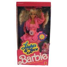 Barbie Lights & Lace 1990 NRFB Pink Dress