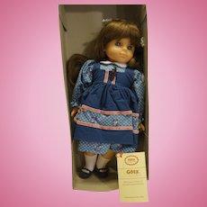 Gotz Modell Spielfreundin Brunette 18 IN Vinyl Doll Blue Dress With Box West Germany