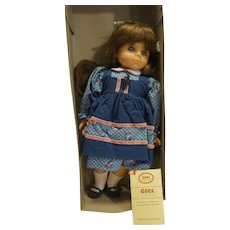 Gotz Modell Spielfreundin Brunette 18 IN Vinyl Doll Blue Dress With Box West Germany