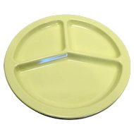 Texas Ware Pale Yellow Melmac Divided Grill Plates 10 In Set of 3