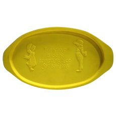 Holly Hobbie Friendship Is Doing Something Nice For Someone Yellow Melmac Oval Small Tray