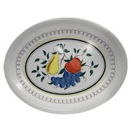 Kenro Oval Fruit Decorated Large Melmac Melamine Platter 1960s