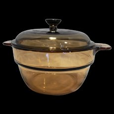 Corning Vision Visions Amber Double Boiler Insert With Lid V-20-B
