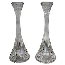 Mikasa Park Lane 8 IN Candle Holders Pair Lead Crystal