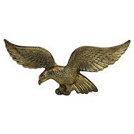 Vintage Brass Eagle Wall Plaque American Patriotic Art 14 IN