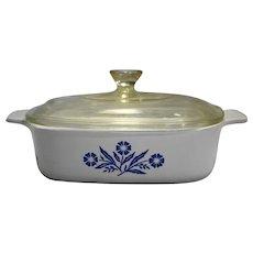 Corning Cornflower 1 Qt 1 Liter Casserole With Lid A-1-B