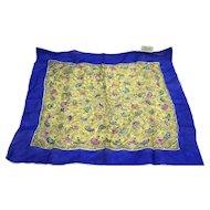 Silk Chiffon Flamenco Dancer Print Handkerchief Small Scarf Made in Japan